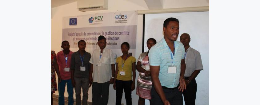 Formation des Points Focaux sur le leadership, la prévention et la gestion de conflits liés aux élections à Mahajanga du 02 au 05 juillet 2018