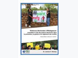 Consolider le rôle des acteurs électoraux dans la prévention, la gestion et le règlement des conflits